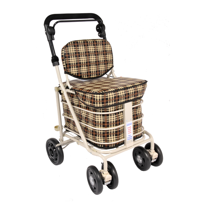 The Backrest Seat Shopper - Brown Tartan